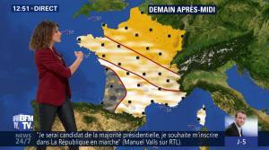 Fanny Agostini à la Météo de BFM TV - 09/05/17 - 05
