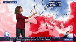 Fanny Agostini à la Météo de BFM TV - 09/05/17 - 09