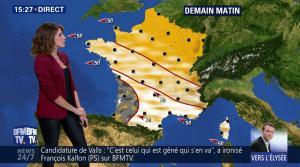 Fanny Agostini à la Météo de BFM TV - 09/05/17 - 12