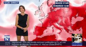 Fanny Agostini à la Météo de BFM TV - 09/06/17 - 02