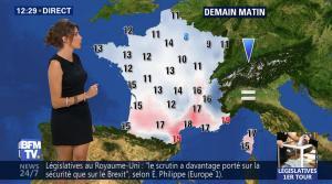 Fanny Agostini à la Météo de BFM TV - 09/06/17 - 03