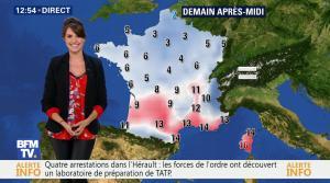 Fanny Agostini à la Météo de BFM TV - 10/02/17 - 09