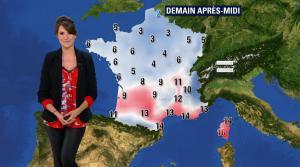 Fanny Agostini à la Météo de BFM TV - 10/02/17 - 10