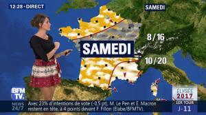 Fanny Agostini à la Météo de BFM TV - 12/04/17 - 02