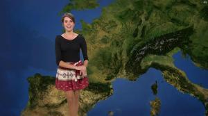 Fanny Agostini à la Météo de BFM TV - 12/04/17 - 04