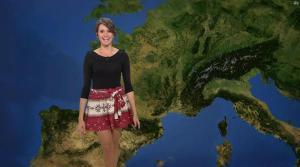 Fanny Agostini à la Météo de BFM TV - 12/04/17 - 06