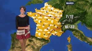 Fanny Agostini à la Météo de BFM TV - 12/04/17 - 07