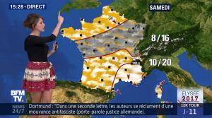 Fanny Agostini à la Météo de BFM TV - 12/04/17 - 09