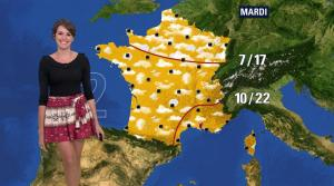 Fanny Agostini à la Météo de BFM TV - 12/04/17 - 10