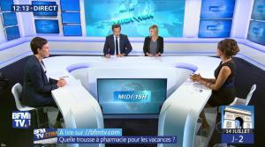 Fanny Agostini à la Météo de BFM TV - 12/07/17 - 01