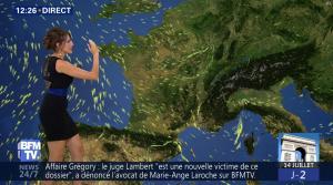 Fanny Agostini à la Météo de BFM TV - 12/07/17 - 03