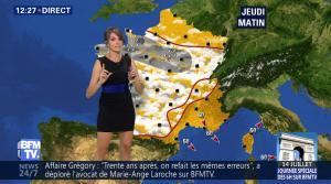 Fanny Agostini à la Météo de BFM TV - 12/07/17 - 05