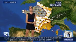 Fanny Agostini à la Météo de BFM TV - 12/07/17 - 06