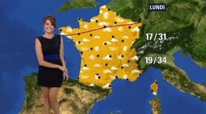 Fanny Agostini à la Météo de BFM TV - 12/07/17 - 07