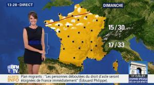 Fanny Agostini à la Météo de BFM TV - 12/07/17 - 09