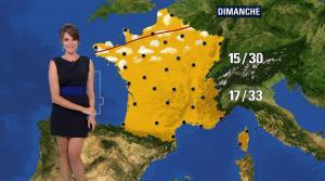 Fanny Agostini à la Météo de BFM TV - 12/07/17 - 10