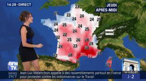 Fanny Agostini à la Météo de BFM TV - 12/07/17 - 13