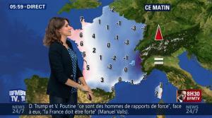 Fanny Agostini à la Météo de BFM TV - 16/01/17 - 02