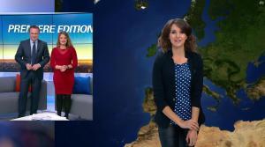 Fanny Agostini à la Météo de BFM TV - 16/01/17 - 06