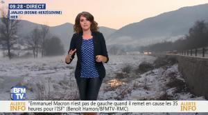 Fanny Agostini à la Météo de BFM TV - 16/01/17 - 09