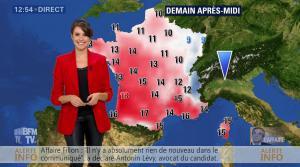 Fanny Agostini à la Météo de BFM TV - 16/02/17 - 04