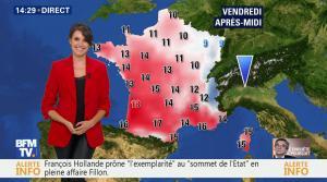 Fanny Agostini à la Météo de BFM TV - 16/02/17 - 08