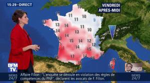Fanny Agostini à la Météo de BFM TV - 16/02/17 - 10