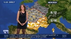 Fanny Agostini à la Météo de BFM TV - 17/02/17 - 09