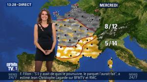 Fanny Agostini à la Météo de BFM TV - 17/02/17 - 10