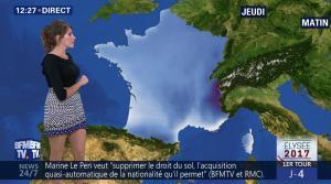 Fanny Agostini à la Météo de BFM TV - 19/04/17 - 02