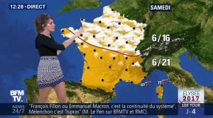 Fanny Agostini à la Météo de BFM TV - 19/04/17 - 03