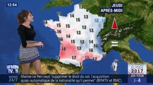 Fanny Agostini à la Météo de BFM TV - 19/04/17 - 05