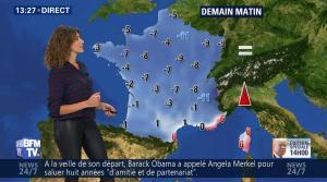 Fanny Agostini à la Météo de BFM TV - 20/12/16 - 09