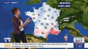 Fanny Agostini à la Météo de BFM TV - 21/03/17 - 01