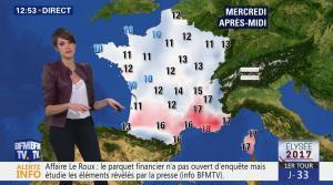 Fanny Agostini à la Météo de BFM TV - 21/03/17 - 04