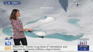 Fanny Agostini à la Météo de BFM TV - 22/03/17 - 01