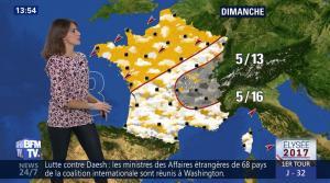 Fanny Agostini à la Météo de BFM TV - 22/03/17 - 04