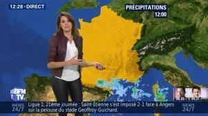 Fanny Agostini à la Météo de BFM TV - 23/01/17 - 05