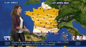 Fanny Agostini à la Météo de BFM TV - 23/01/17 - 06