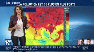 Fanny Agostini à la Météo de BFM TV - 23/01/17 - 07