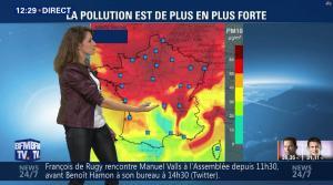 Fanny Agostini à la Météo de BFM TV - 23/01/17 - 08