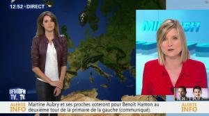 Fanny Agostini à la Météo de BFM TV - 23/01/17 - 10