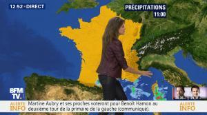 Fanny Agostini à la Météo de BFM TV - 23/01/17 - 12