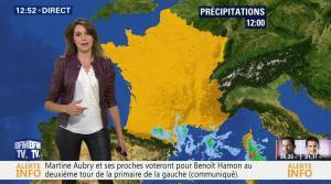 Fanny Agostini à la Météo de BFM TV - 23/01/17 - 13