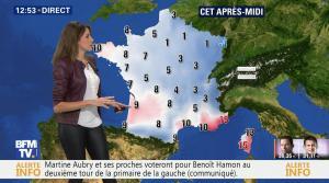 Fanny Agostini à la Météo de BFM TV - 23/01/17 - 15