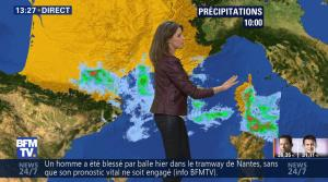 Fanny Agostini à la Météo de BFM TV - 23/01/17 - 19