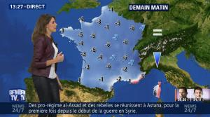 Fanny Agostini à la Météo de BFM TV - 23/01/17 - 21