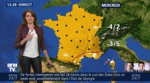 Fanny Agostini à la Météo de BFM TV - 23/01/17 - 22