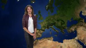 Fanny Agostini à la Météo de BFM TV - 23/01/17 - 23