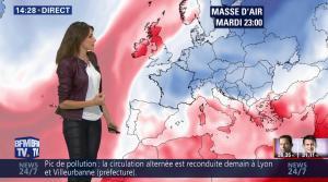 Fanny Agostini à la Météo de BFM TV - 23/01/17 - 24